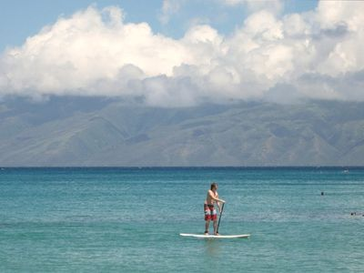 Or stand up and paddle the bay