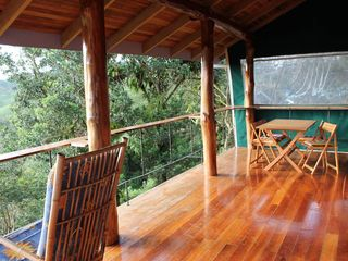 San Ramon villa photo - Enjoy breakfast on the balcony from our eucalyptus wood dining table and chairs.
