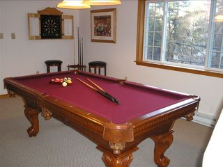 Towamensing Trails chalet photo - Pool Anyone? Real Wood And Slate Table