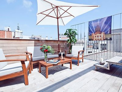 Private Terrace Apartment and Pool near the Beach for 8 people - Free Wi-Fi!