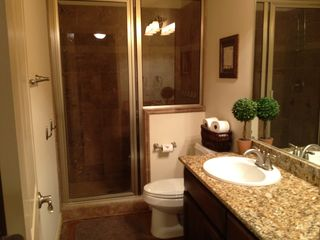 Spicewood house photo - Walk out basement bathroom