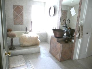 Ossipee Lake house photo - Main Bath Roman walkin Shower & soaking tub