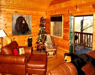 Gatlinburg cabin rental - Part of living room area