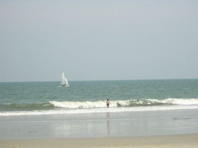 Pawleys Island Beach so uncrowed in July