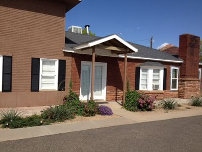 Kanab cottage rental - Welcome to Blueberry Ribbon Cottage. Lovely, private, and amble parking.