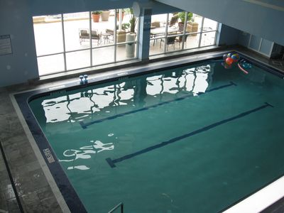 Heated, indoor pool overlooking Lake Erie.
