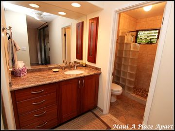 Master Vanity from unit 51C, One Bedroom-Two Bath, Partial Ocean View