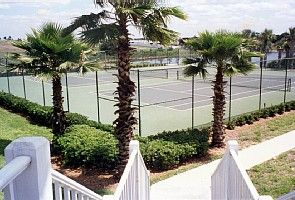 Haines City villa rental - Community tennis courts