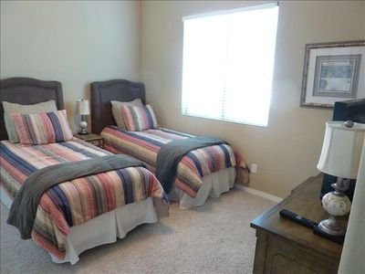 Third bedroom. Comfortable twin beds.