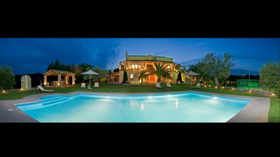 Vip Luxury Villa Classic Corfu with Tennis Court