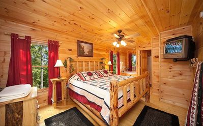 Have a good night sleep on the king size bed at the master bedroom.
