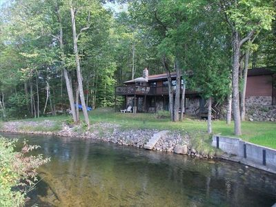 Traverse City cottage rental - Cottage - Side Facing River