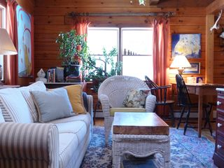 Cottage charm in the Comfy Living Rm & throughout the Log Home - Kennebunk house vacation rental photo