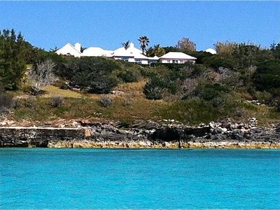 Bermuda cottage rental - View from the water on the western side