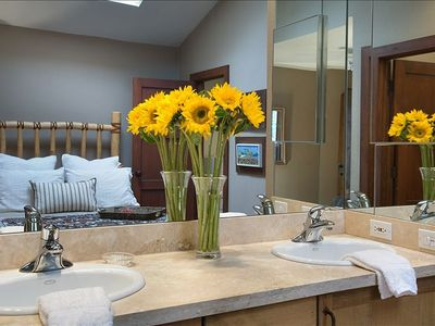 Master bath twin sinks