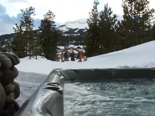 Big Sky house photo - 7 seater hot tub with gorgeous lone mountain views