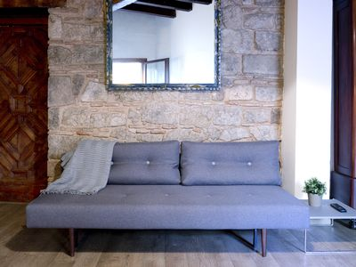 Barrio Gotico apartment rental - Vintage-like sofa bed