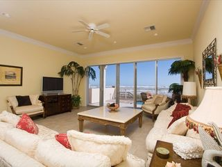 South Padre Island house photo - Living room with ocean view