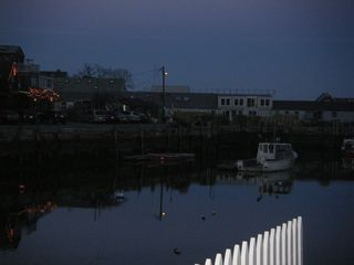 Rockport condo photo - The harbor is very peaceful at night, except for the ducks quacking.