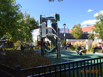 Kid's park at the corner street