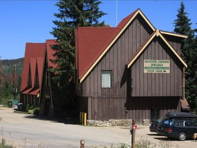 This is the Historic Beaver Village Lodge where you check in and get keys.