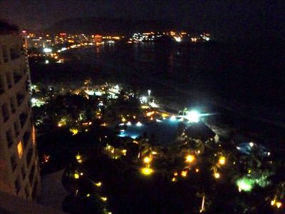 "Let the ambiance of Ixtapa Bay evening lights ""move"" you."