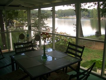 Muscle Shoals house rental - View from the screened porch.