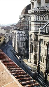 Historic Center apartment rental - Duomo side from Terrace - morning
