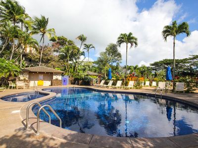Ground floor 1bd condo in awesome Poipu-On site pool **Free mid-size car