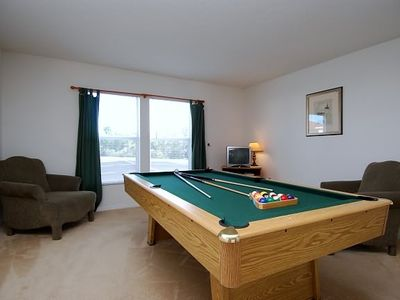 Game room with pool table and Cable TV with Playstation2 and DVD