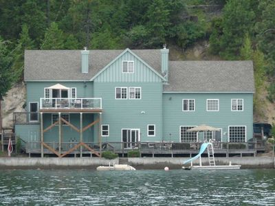 View of house while boating past