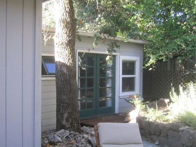French Doors from Master Bedroom to Rear Patio