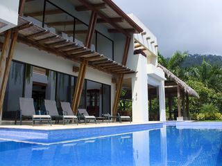 Dominical villa photo - View toward house & Escaleras mountains, which form a lush green backdrop