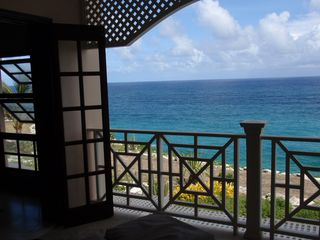Crane Beach apartment photo - On the Ocean View Patio from the Bedroom!