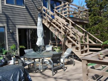 East Hampton villa rental - Rear Deck