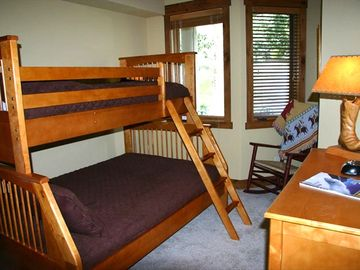 The lower bunk is a double bed. Perfect for kids or a couple with one child.