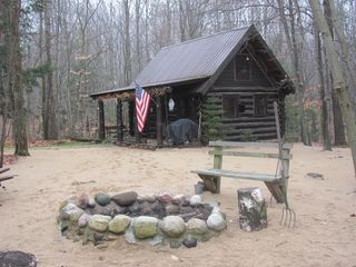Mackinaw City cabin photo - The fire pit in Fall