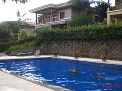 Just steps from the Villa is the Saltwater pool (24X48) 3 to 6 feet .