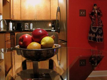 Asheville house rental - DINE IN in colorful style or WINE IN before leaving for dinner.