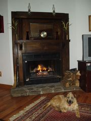 Boone cabin photo - A Real Log Fire Compliments the Central Heating and A/C