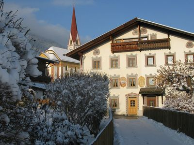 Telfes im Stubai apartment rental - Exterior view during the winter
