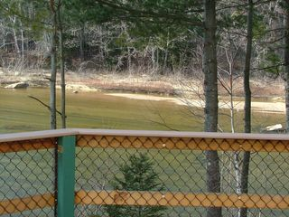 North Conway house photo - Riverview deck pan 4