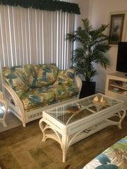 Love Seat in Living Room - Myrtle Beach Resort condo vacation rental photo