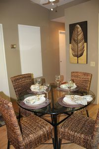 Dining area, high quality flat wear and glasses