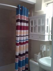 Mission Beach condo photo - Travertine bath - spotless!!