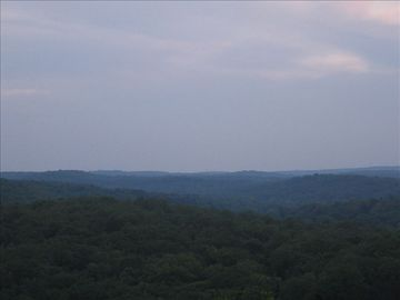 Cherokee Village house rental - View from the back deck
