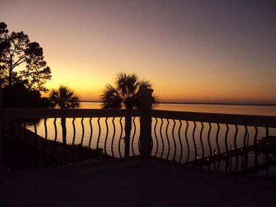 Sunset from the upper deck-overlooking Perdido Bay