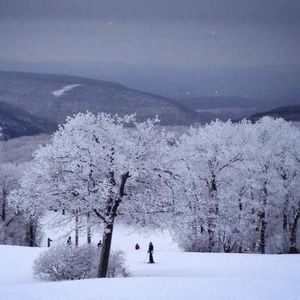 A typical day at Blue Knob mountain in the winter.