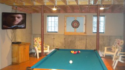 Championship pool table in game room