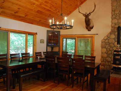 Branson house rental - The dining table seats 20!